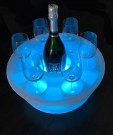 Flytende spa bar i hardplast med LED lys inkl. 6 glass thumbnail